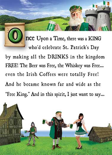 The Good King Funny St. Patrick's Day Card